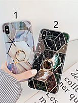 cheap -Case For Apple iPhone 11 / iPhone 11 Pro / iPhone 11 Pro Max Plating / Ring Holder / Pattern Back Cover Marble TPU X XS XSmax XR 6 6plus 6splus 6s 7 7plus 8 8plus