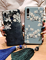 cheap -Case For Huawei Huawei Nova 3i / Huawei Nova 4 / Huawei nova 4e Frosted / Pattern / DIY Back Cover Flower TPU