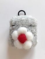 cheap -Case For AirPods 1 2 Fluffy Cute Flower Headphone Case Hard