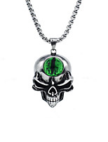 cheap -Men's Pendant Necklace Geometrical Skull Fashion Titanium Steel Silver 55 cm Necklace Jewelry 1pc For Daily Holiday