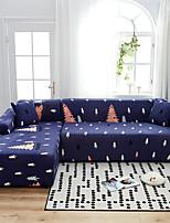 Недорогие -Новогодняя елка с принтом пылезащитный всесильный чехлы-стрейч L-образный чехол для дивана Супер мягкий чехол из ткани с одной бесплатной наволочкой