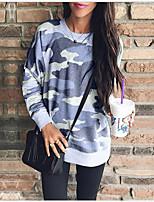 cheap -Women's Casual Sweatshirt - Camo / Camouflage Blushing Pink S