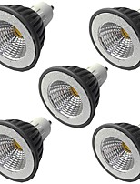 cheap -5pcs 7 W LED Spotlight 500 lm GU10 GU10 1 LED Beads COB Dimmable Warm White White 220-240 V