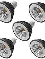 cheap -5pcs 5 W LED Spotlight 400 lm GU10 GU10 1 LED Beads COB Warm White White 110-240 V
