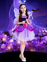 cheap -Tinker Bell Dress Masquerade Flower Girl Dress Girls' Movie Cosplay A-Line Slip Cosplay Halloween Purple Dress Halloween Carnival Masquerade Tulle Plush Fabric