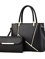 cheap -Women's Zipper Faux Leather / PU Bag Set Letter 2 Pieces Purse Set Black / Wine / Blushing Pink