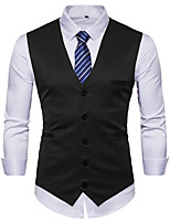 cheap -James Bond Gentleman Vintage Double Breasted Waistcoat Men's Slim Fit Costume Black / Purple / Burgundy Vintage Cosplay Party Halloween / Vest