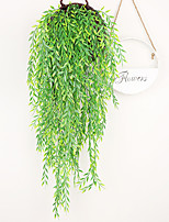 cheap -Artificial green leaf decoration rattan willow leaf wall hanging wedding plant background wall decoration