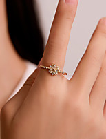 cheap -Women's Couple Rings Band Ring Ring Gold Copper Engagement Gift Jewelry / Promise Ring