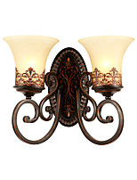 cheap -American Style Restoring Ancient Ways Double Head Wall Lamp Bedroom Bedside Balcony Corridor Mirror Headlight Living Room Tie Yi Lamps