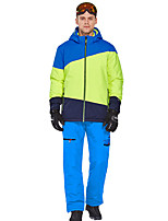 cheap -Phibee Men's Ski Jacket with Pants Skiing Camping / Hiking Winter Sports Windproof Warm Winter Sports Poly&Cotton Blend Warm Top Warm Pants Clothing Suit Ski Wear