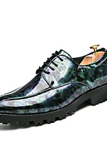 cheap -Men's Formal Shoes PU Spring & Summer / Fall & Winter British Oxfords Walking Shoes Camouflage Black / Yellow / Blue / Party & Evening