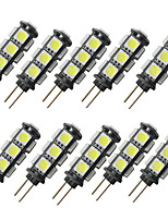 cheap -10pcs 2 W LED Bi-pin Lights 150 lm G4 13 LED Beads SMD 5050 Warm White White 12 V