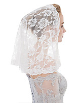 cheap -One-tier Classic Style / Lace Wedding Veil Shoulder Veils with Solid / Pattern POLY / Lace