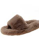 cheap -Women's Slippers / Men's Slippers House Slippers Casual Fleece solid color Shoes
