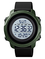 cheap -SKMEI Men's Digital Watch Digital Sporty Silicone Black / Blue 30 m Water Resistant / Waterproof Calendar / date / day Chronograph Analog Outdoor - Black White Fuchsia Two Years Battery Life