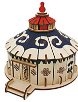 cheap -3D Puzzle Wooden Puzzle Windmill Globe Villa Simulation Hand-made Wooden 84/67/88/79/73/59/52/177/82 pcs Kid's Adults' All Toy Gift