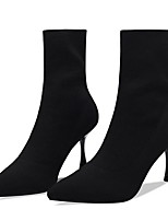 cheap -Women's Boots Stiletto Heel Pointed Toe PU Booties / Ankle Boots Fall & Winter Black