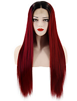 cheap -Human Hair Lace Wig Synthetic Lace Front Wig Cosplay Wig Natural Straight Middle Part Lace Front Wig Long Light golden Golden Brown Grey Pink Light Blonde Synthetic Hair 24inch-26inch Women's Odor