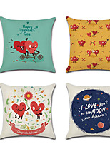 cheap -1pcs Valentines Day Couple Material Pillow Cover Cushion Cover Linen