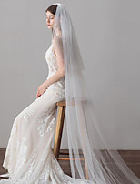 cheap -One-tier Classic Style / Lace Wedding Veil Cathedral Veils with Solid / Pattern 23.62 in (60cm) POLY / Lace