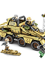 cheap -Building Blocks Military Blocks Vehicle Playset 395 pcs Military compatible Legoing Simulation Military Vehicle All Toy Gift / Kid's / Educational Toy