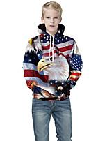 cheap -Kids Boys' Basic Color Block 3D Print Long Sleeve Hoodie & Sweatshirt Blue