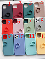 cheap -Case for Apple scene map iPhone 11 X XS XR XS Max 8 Pure color painted matte TPU material all-inclusive mobile phone case with ring lanyard bracket