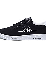 cheap -Men's Espadrilles Canvas / Linen Spring & Summer / Fall & Winter Casual / Preppy Sneakers Running Shoes / Walking Shoes Breathable Black / Gold / Black and White / White