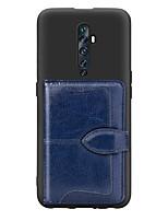 abordables -étui pour oppo f11 pro / oppo reno 10x / oppo reno2 z porte-cartes / avec support / couverture arrière ultra-fine motif géométrique en cuir pu / tpu étui pour oppo reno / oppo realme x