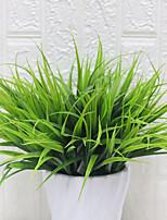 abordables -fleur artificielle plante d'eau 1 branche printemps herbe plante mur décoration extérieure