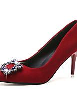 cheap -Women's Wedding Shoes Stiletto Heel Pointed Toe PU Winter Black / Red / Gray
