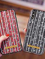 cheap -Case For Apple iPhone 11 / iPhone 11 Pro / iPhone 11 Pro Max Shockproof / Rhinestone Back Cover Solid Colored TPU