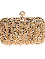 cheap -Women's Sequin Polyester Evening Bag Solid Color Black / Gold / Silver