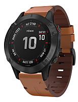 cheap -Watch Band for Fenix 5 / Fenix6 / Fenix6 Pro Garmin Leather Loop Genuine Leather Wrist Strap