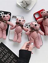 abordables -étui pour apple iphone 11 / iphone 11 pro / iphone 11 pro max couverture arrière dessin animé textile pour iphone 6 6 plus 6s 6s plus 7 8 7 plus 8 plus x xs xr xs max