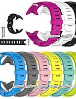 Недорогие -Ремешок для часов для SUUNTO D4 D4i NOVO Suunto Спортивный ремешок силиконовый Повязка на запястье