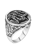 cheap -Couple's Band Ring 1pc Rose Gold Silver Alloy Geometric Punk Trendy Daily Jewelry Geometrical Hope Cool