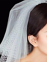 cheap -Two-tier Classic Style / Lace Wedding Veil Shoulder Veils with Solid POLY / Lace
