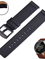 cheap -Smartwatch Band for Samsung Galaxy 42 / Active / Active2 / Gear S2 / S2 Classic / sport Band Fashion comfortable Leather Loop Genuine Leather Wrist Strap 20mm