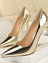 cheap -Women's Heels Stiletto Heel Pointed Toe Patent Leather Classic / Sweet Walking Shoes Spring &  Fall / Spring & Summer Black / Dark Grey / Champagne / Party & Evening