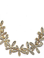 cheap -Women's Choker Necklace Collar Necklace Classic Flower Precious Unique Design Fashion Gold Plated Chrome Gold 45 cm Necklace Jewelry 1pc For Daily Street