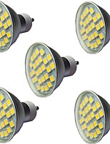 cheap -5pcs 3.5 W LED Spotlight 300 lm GU10 GU10 27 LED Beads SMD 5050 Dimmable Warm White White 220-240 V
