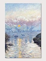 abordables -Peinture à l'huile Hang-peint Peint à la main - Abstrait Paysages Abstraits Moderne Inclure cadre intérieur