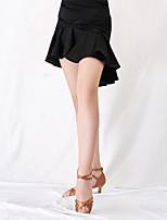 cheap -Latin Dance Bottoms Women's Training / Performance Milk Fiber Split Joint Natural Skirts