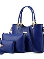 cheap -Women's Rivet Faux Leather / PU Bag Set Solid Color 3 Pcs Purse Set Black / Wine / Blushing Pink