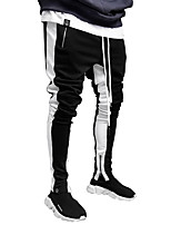 cheap -Men's Jogger Pants Joggers Running Pants Track Pants Sports Pants Side-Stripe Sports Pants / Trousers Running Fitness Jogging Thermal / Warm Breathable Soft Color Block Black / Red Black / Yellow