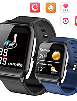 cheap -Smartwatch Digital Modern Style Sporty Silicone 30 m Water Resistant / Waterproof Heart Rate Monitor Bluetooth Digital Casual Outdoor - Black Purple Blue