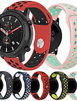 abordables -smartwatch band pour huami amazfit gtr 42mm / bip younth watch / amazfit bip / bip lite amazfit sport band fashion soft confortable silicone dragonne 20mm