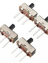 abordables -100 pcs ss12d00g3 2 positions spdt 1p2t 3 broches pcb panneau mini commutateur coulissant vertical